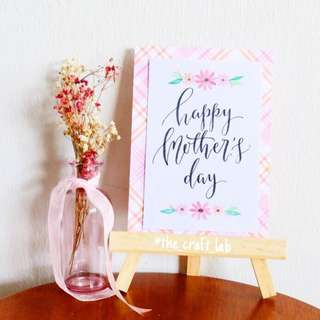 <Mother's Day Exclusive> Delicate Daisies Calligraphy Card