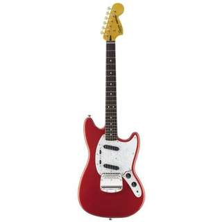 Squier Vintage Modified Mustang Electric Guitar, Fiesta Red
