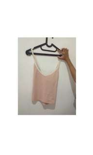 forever21 crop pink white top