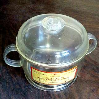 Vintage Candy Plastic Container