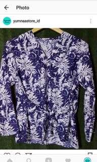 Palm shirt ribbon navy