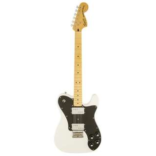 Squier Vintage Modified Telecaster Deluxe Electric Guitar, Olympic White