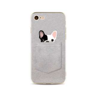 Pocket Friends Puppy Dog Soft Case for iPhone 5, 5s, 6, 6+, 6s, 6s+, 7, 7+, 8, 8+, X