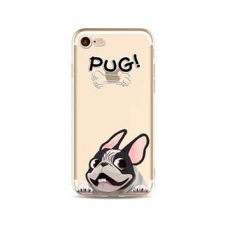 Pug Soft Case for iPhone 5, 5s, 6, 6+, 6s, 6s+, 7, 7+, 8, 8+, X