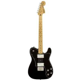 Squier Vintage Modified Telecaster Deluxe Electric Guitar, Black