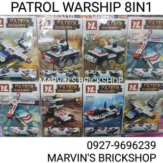 Latest! Patrol Warship 8in1 Building Block Toys