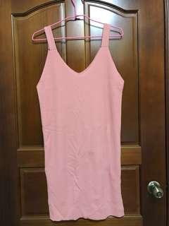 粉色開叉背心裙