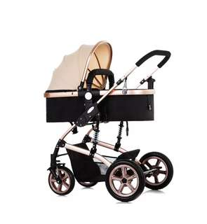 Baby Stroller with Explosion-proof Real Wheel