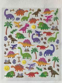 Dinosaurs Glitter Stickers