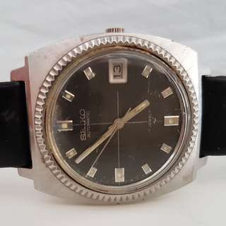 Rare Seiko, Old Seiko, Vintage Seiko Automatic Wrist Watch, 17 Jewels, Hi Beat, Calibre 7005, Seiko Time Corp Japan, For Collector, Beautiful Coin Bezel, Seiko Band, All Working, A Piece of History