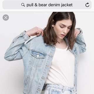 牛仔外套Pull&Bear denim jacket