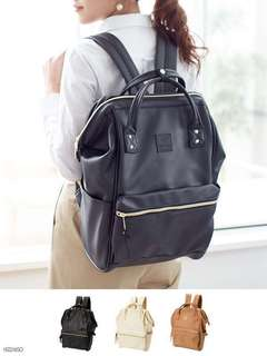 [Authentic]Anello Bagpack Leather