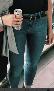 Topshop Classic blue skinny jeans