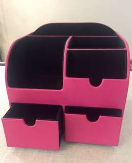 Pink Stationery / Make Up Supplies Holder
