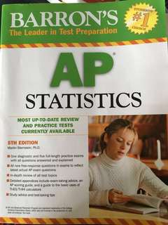 ** NEVER USED** AP statistics Barron's book
