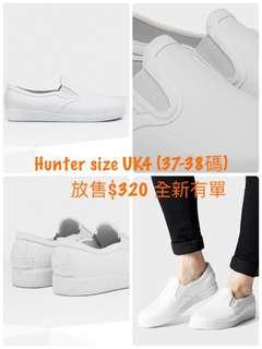 Hunter低筒全白防水鞋 雨靴