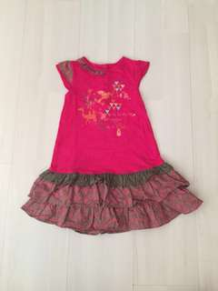 Girl Pink Dress Top with Ruffles