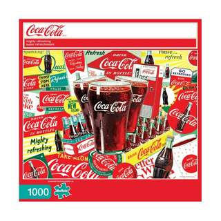 🆕 Buffalo Games - Coca-Cola - Mighty Refreshing - 1000 Piece Jigsaw Puzzle Game