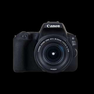 Canon EOS 200D DSLR 18-55mm Kredit Proses cepat tanpa cc