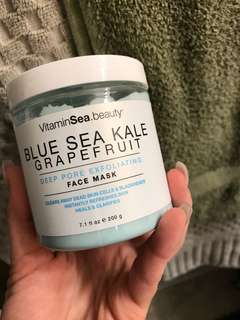 Blue Sea Khale Face Mask