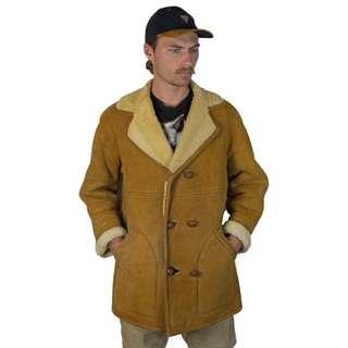 Vintage 1980s Suede Sherpa Coat