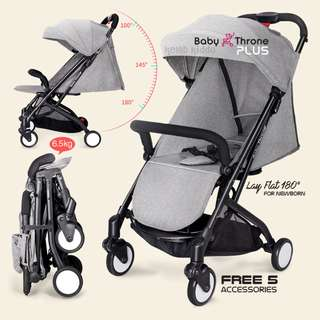 Baby Throne Stroller – PLUS Grey