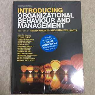 Introducing Organizational Behaviour And Management 2nd Edition