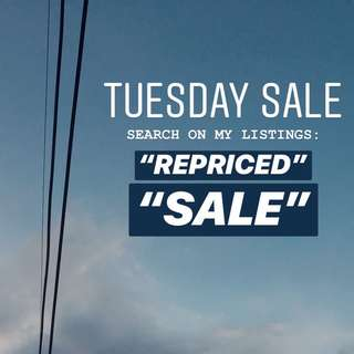 TUESDAY SALE