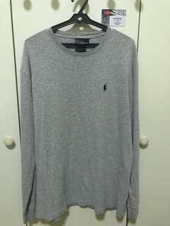 Ralph Lauren Grey Long Sleeve Crew Neck T-Shirt