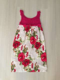 Girls Printed Dress (Knitted Top)
