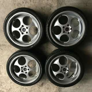 "REPRICED | ROZZA 18"" Rims & Tires 5 Holes (4 pcs)"