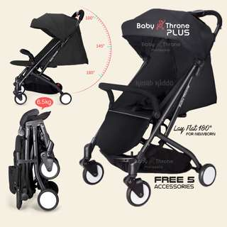 Baby Throne Stroller – PLUS Black