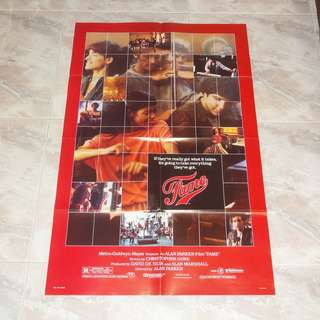 Fame Original US 1 Sheet Movie Poster 1980 Irene Cara Alan Parker MGM Original Version