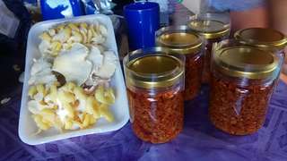Organic mushroom garlic chili sauce