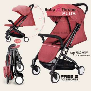 Baby Throne Stroller – PLUS Red