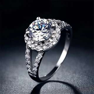 Luxury CZ Stone Silver Ring