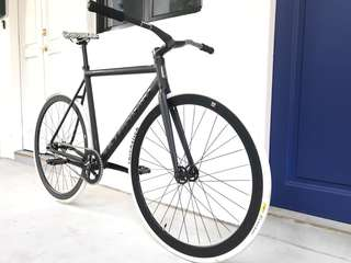"26"" TSUNAMI BLACK Track Frame Off-White Style FIXIE (Limited Edition) Coaster Brake Fixed Gear Free Gear Flip Flop Hub 8.3Kg Only (PM For More Details"