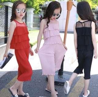 Girls Chiffon Cake pleated set