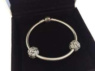 Pandora Darling Daisy Meadow Clip Charm Bracelet