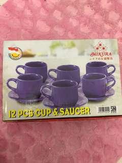 NIKURA CUP&SAUCER BIRU NEW