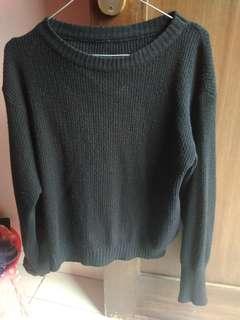 Sweater hitam rajut