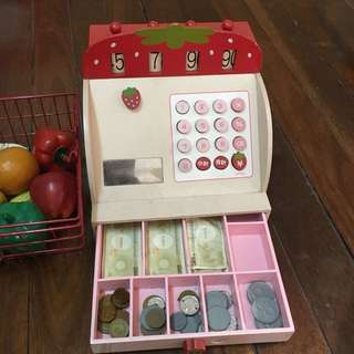 Mother Garden Grocery set (wooden cash register)