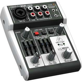 Behringer XENYX 302 Small Format Mixer with USB