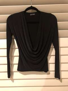 Pretty Little Thing Cowl Neck Top Size 4