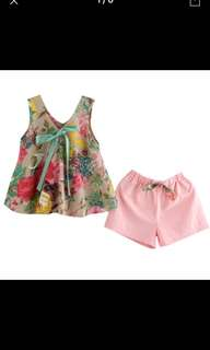 Girls 2 piece flower set