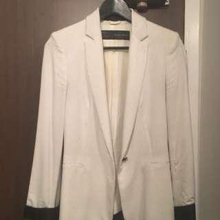 Zara ladies navy dot blazer- size XS