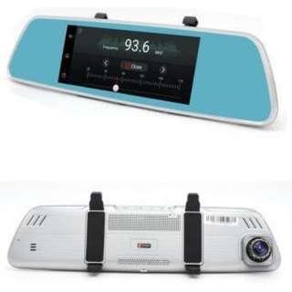"7"" 3G Car DVR Camera Rearview Mirror w/ Dual Lens."