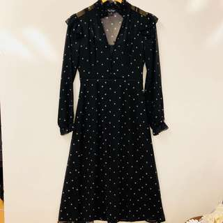 Miss Selfings black white flowers dress size UK8