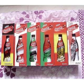 可口可樂04年香港歐洲國家杯包膠紀念版一套六枝 (議價不覆)