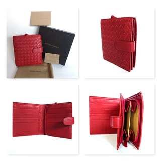 BNIB Bottega Veneta Mini Wallet in Crimson